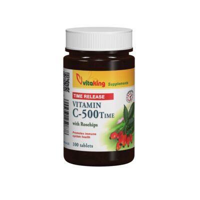 VITAKING C-vitamin 500 mg Nyújtott Hatású Csipkebogyóval 100 db