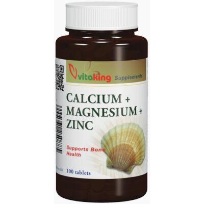 VITAKING Kalcium-Magnézium-Cink Tabletta 100 db