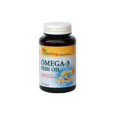 VITAKING Omega-3 Halolaj Gélkapszula 1200 mg - 90 db