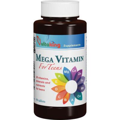 VITAKING Mega Vitamin tabletta Tiniknek 90 db