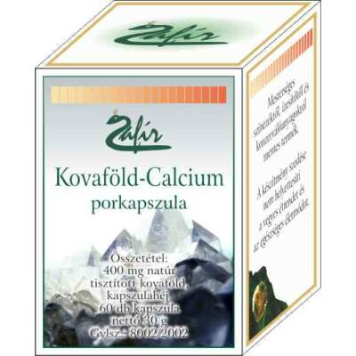 ZAFIR Kovaföld-Calcium porkapszula 60 db