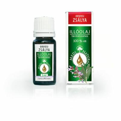 MEDINATURAL illóolaj 100%-os orvosi zsálya 5 ml