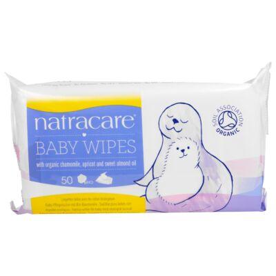 NATRACARE Bio pamut baba törlőkendő 50 db
