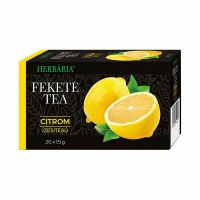 HERBÁRIA Fekete tea citrom ízesítéssel 20 filter