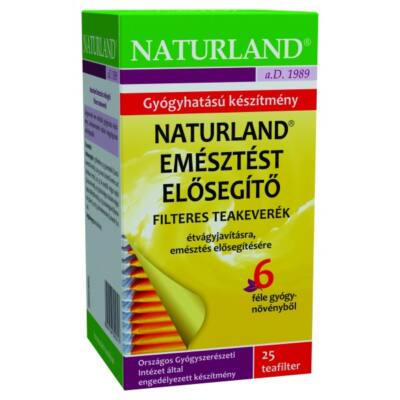 NATURLAND Emésztést elősegítő tea 25 filter