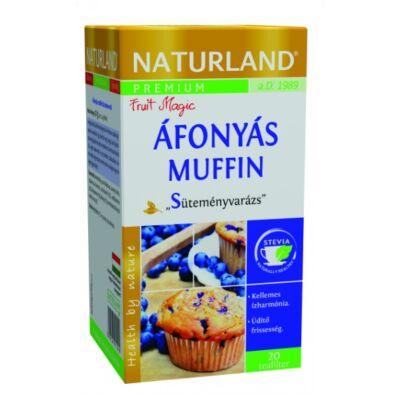 NATURLAND Prémium Áfonyás Muffin ízű tea 20 filter
