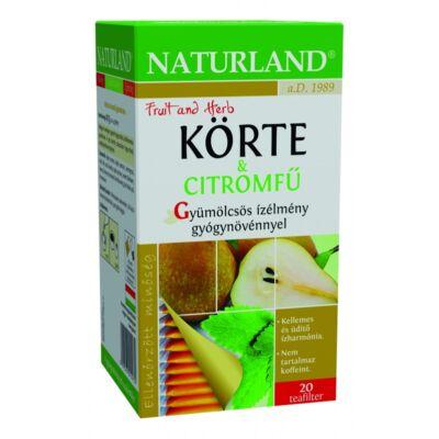NATURLAND Gyümölcstea Körte-citromfű 20 filter