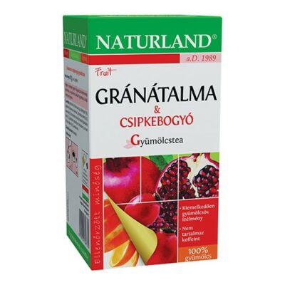 NATURLAND Gyümölcstea Gránátalma-csipkebogyó 20 filter