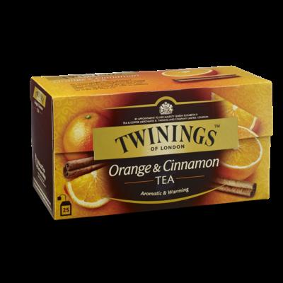 TWININGS Narancs-Fahéj Tea 25 filter