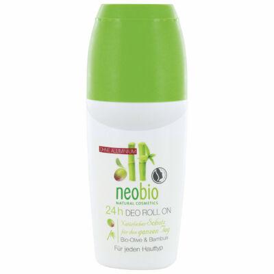 Neobio 24 órás alumíniummentes golyós dezodor bio olíva- és bambuszkivonattal 50 ml