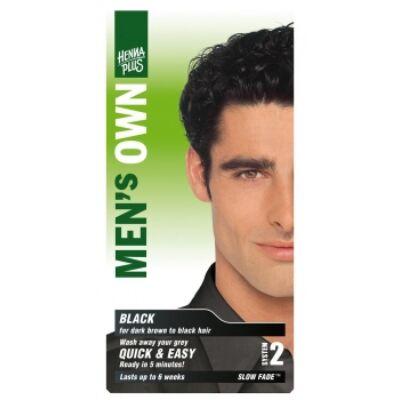 HENNAPLUS férfi hajfesték, fekete