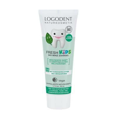 LOGODENT Fresh Kids Fluoridmentes gyermek foggél bio mentával 50 ml