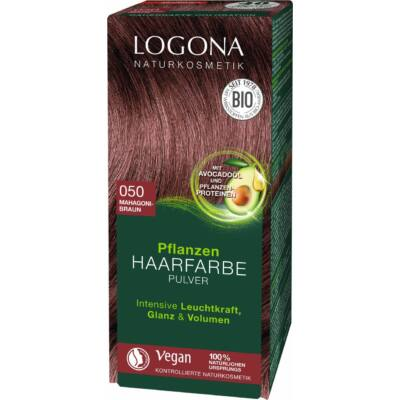 LOGONA Növényi hajfesték por Mahagóni barna 100 g