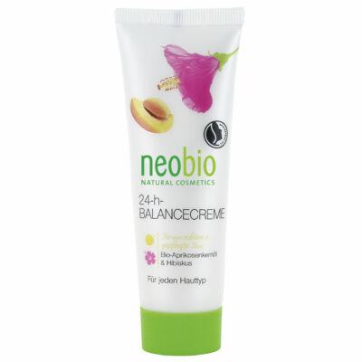 Neobio 24 órás Kiegyensúlyozó arckrém bio sárgabarackmag-olajjal és hibiszkusszal 50 ml