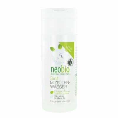 Neobio 3 az 1-ben Micellás arctisztító víz bio mentakivonattal és tengeri sóval 150 ml
