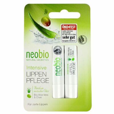 NEOBIO Ajakápoló Aloe Verával és Olívával duo 2x4,8 g