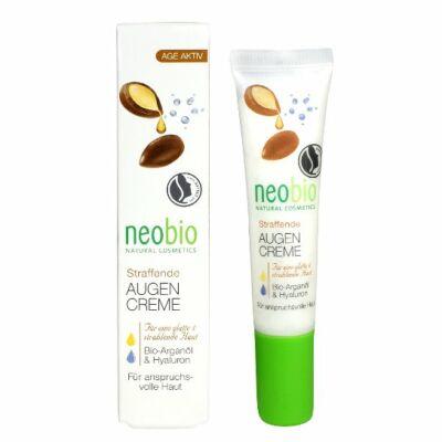 NEOBIO Feszesítő szemránckrém Bio argánolajjal és hialurnsavval 15 ml