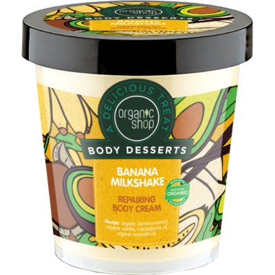 """Organic Shop """"Banán shake"""" regeneráló testápoló 450 ml"""