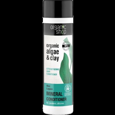 Organic Shop Kék lagúna erősítő hajbalzsam bio alga és agyag kivonattal 280 ml