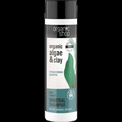 Organic Shop Kék lagúna erősítő sampon bio alga és agyag kivonattal 280 ml