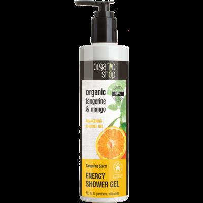 Organic Shop Mandarin vihar ébresztő tusfürdő bio mandarin és mangó kivonattal 280 ml