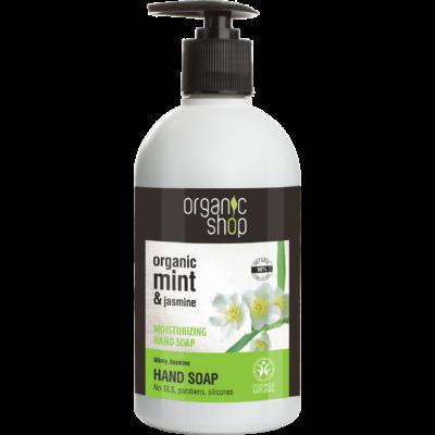 Organic Shop Mentás jázmin hidratáló folyékony kézmosó szappan 500 ml