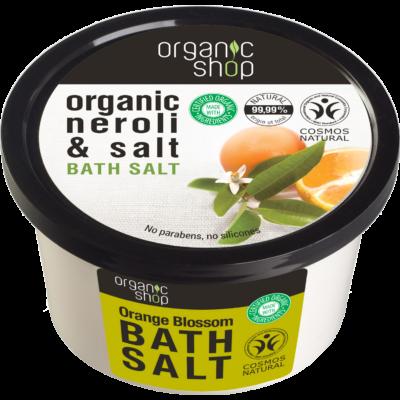 Organic Shop Narancsvirágzás fürdősó narancsvirág és tengeri só kivonattal 250 ml
