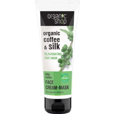 Organic Shop Selymes kávé bőrfiatalító arcpakolás bio kávé és selyem kivonattal 75 ml