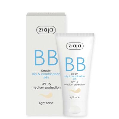 ZIAJA BB krém zsíros és vegyes bőrre – világos tónus 50 ml